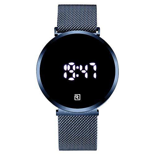 Shalwinn Orologio da uomo a LED Touch screen display digitale orologio elettronico Orologio impermeabile in acciaio inossidabile al quarzo di moda automatici unisex
