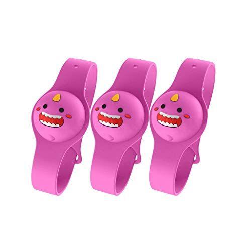 zhengcheng 3/4 pezzi dispenser di braccialetto disinfettante per le mani in silicone dispenser di sapone liquido da polso indossabile contenitori da viaggio per adulti bambini (f)