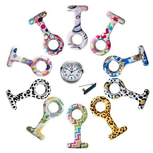 lancardo cover custodia per orologio da infermiera cover custodia in silicone (10 custodie + 1 caso) regalo perfetto