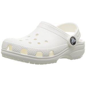 Crocs Roomy fit Classic Clog Zoccoli Unisex Bambini, Bianco (White), 29/30 EU