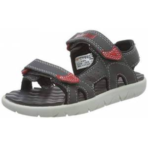 Timberland Perkins Row 2-strap, sandalo juniors Aperta Unisex-Bambini, Grigio (Forged Iron Fac), 22 EU