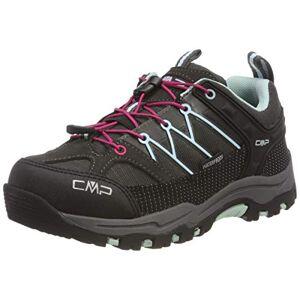 CMP Kids Rigel Low Trekking Shoe WP, Scarpe da Arrampicata Basse Unisex-Bambini, Marrone (Arabica-Sky Light 76bn), 37 EU