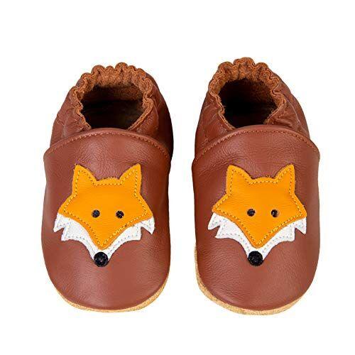 iceunicorn scarpe neonato scarpine primi passi morbida pelle scarpine prima infanzia suola scamosciata carino colorate animali 0 a 24 mesi(c/marrone volpe, 18-24 mesi)