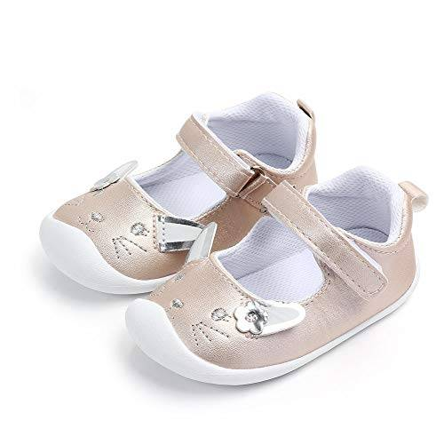 lacofia ballerine per neonata scarpe primi passi antiscivolo per bambina oro coniglio 19