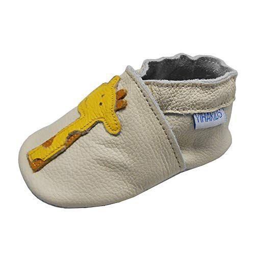 yihakids scarpine prima infanzia. scarpe bimbi per primi passi con suola scamosciata. per ragazze e ragazzi. giraffa scarpette neonato(size m, beige, 6-12 mesi, 21/22 eu)