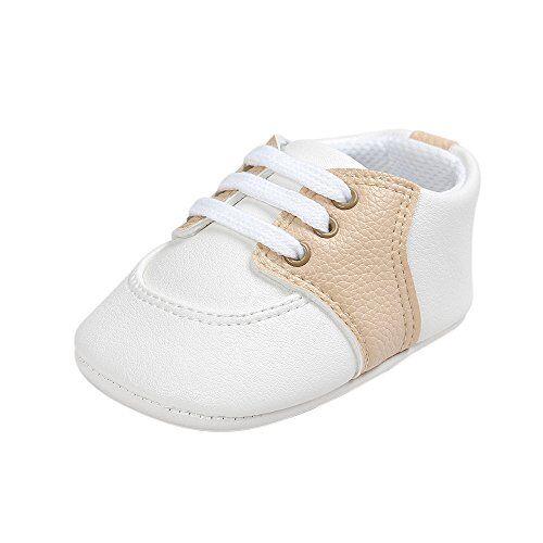 estamico,scarpe primi passi bambine, unisex scarpine neonato sneakers,beige 12-18 mesi