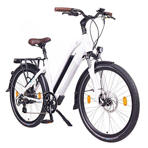 NCM Milano Bicicletta elettrica da Trekking, 250W, Batteria 48V 13Ah 624Wh (Bianco 26)