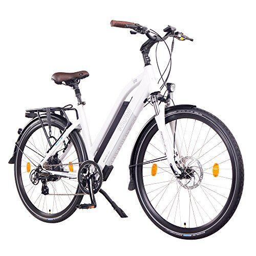 NCM Milano Bicicletta elettrica da Trekking, 250W, Batteria 48V 13Ah 624Wh (Bianco 28)