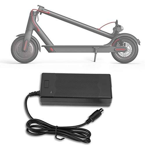 tbest caricabatterie per scooter, caricabatterie per scooter elettrico e scooter 42v 2a per xiaomi black (opzionale: spina uk 220 v)