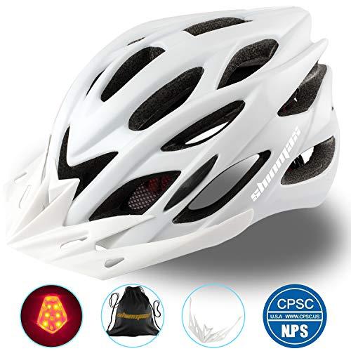 Shinmax Specializzata del Casco Bici con Luce Sicurezza Sport Regolabile Bicicletta Casco della Bici Caschi Bicicletta per Strada Bike Uomini Donne Et Giovent Racing Protezione Sicurezza