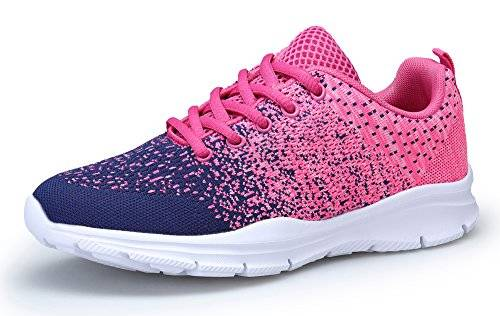 KOUDYEN Uomo Donna Scarpe da Ginnastica Corsa Basse Scarpe Sportive Confortable Fitness Running Sneakers Casual all'Aperto,XZ746-W-pinkblue-EU38