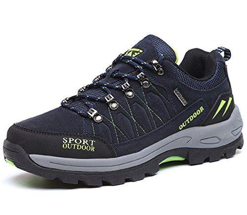 NEOKER Scarpe da Trekking Uomo Donna Arrampicata Sportive All'aperto Escursionismo Sneakers Blu 42