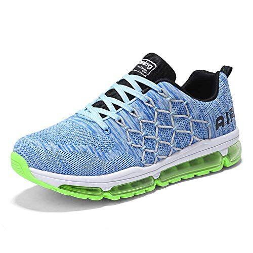 frysen Uomo Donna Air Scarpe da Ginnastica Corsa Sportive Fitness Running Sneakers Basse Interior Casual all'Aperto 1643 Blue 41