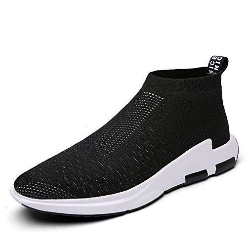 iceunicorn scarpe running sneakers uomo donna sport scarpe da ginnastica fitness respirabile mesh corsa leggero casual all'aperto(nero,46eu)