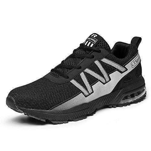 iceunicorn scarpe running sneakers donna uomo sport scarpe da ginnastica trekking fitness respirabile corsa leggero casual all'aperto(8901-2nero,42eu)