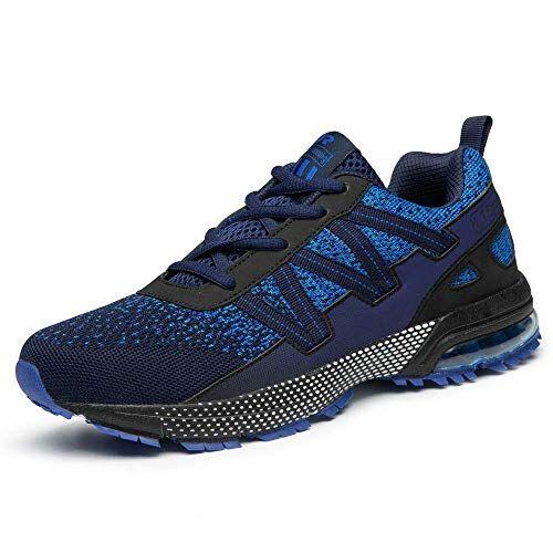 iceunicorn scarpe running sneakers donna uomo sport scarpe da ginnastica trekking fitness respirabile corsa leggero casual all'aperto(8901-blu,40eu)