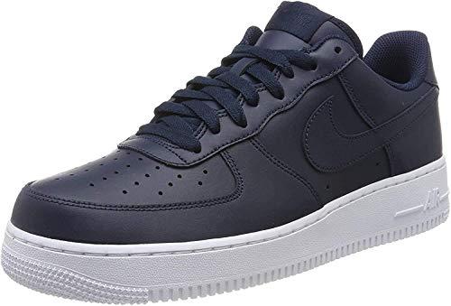 Nike Air Force 1 07, Scarpe da Ginnastica Uomo, Grigio (Obsidian/Obsidian/White), 40
