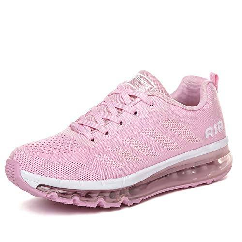 frysen Uomo Donna Air Scarpe da Ginnastica Corsa Sportive Fitness Running Sneakers Basse Interior Casual all'Aperto Pink 39 EU