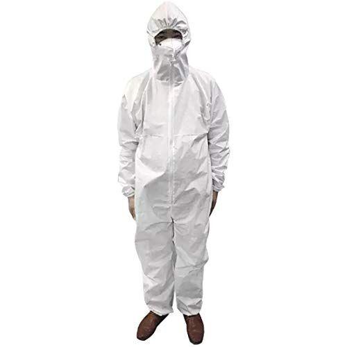 sidiou group tuta integrale lavora un pezzo abiti da lavoro uomo donna abbigliamento da lavoro con zip frontale vestiti da lavoro (pp + pe 63g bianco, taglia unica)