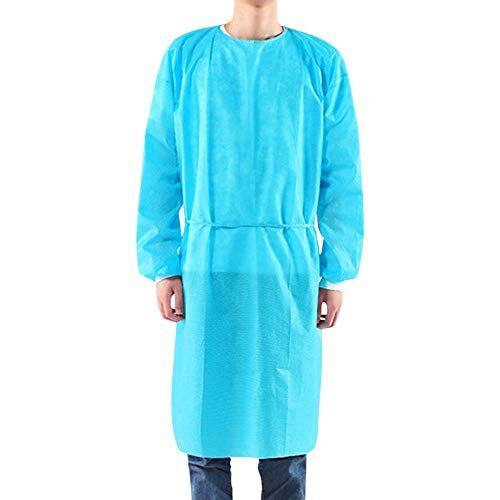 sidiou group tuta integrale lavora un pezzo abiti da lavoro uomo donna abbigliamento da lavoro con zip frontale vestiti da lavoro (pp + pe 45g blu (10pack), taglia unica)