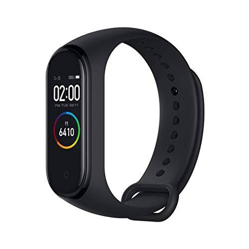 Xiaomi Band 4 - Smart watch e fitness tracker, con cardiofrequenzimetro, 135 mAh, schermo a colori, Bluetooth 5.0, 2019, nero