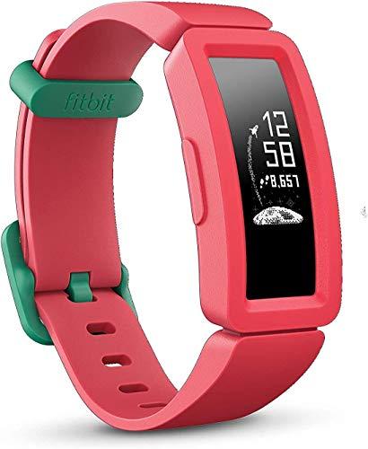 fitbit ace 2, activity tracker unisex bambino, rosso anguria/verde, taglia unica
