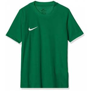Nike Park VI Jersey SS Youth, T-Shirt Unisex Bambini, Pine Green/White, L