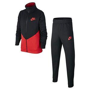 Nike NSW Core Futura Ste Ply Survetements T-Shirt, (Black Red/University), (Taglia Produttore: Large) Bambino