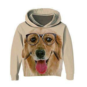 RAISEVERN Primavera Ragazzi Ragazze Felpe con Cappuccio Felpe 3D Stampa Cute Dog Pullover Cappotto Hiphop Abbigliamento Sportivo Casual Golden Retriever