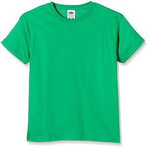 Fruit of the Loom SS132B T-Shirt da Ragazzi, Colore Verde (Kelly Green), Taglia 5-6 Anni (Taglia Produttore: 116 cm)