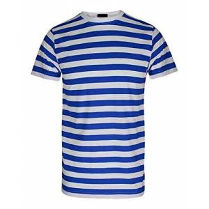 TrendyFashion Maglietta con motivo a righe, per adulti e bambini Blue/White Stripe T-Shirt