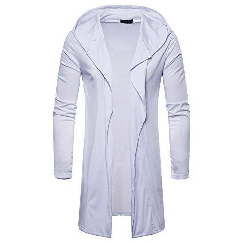 Beikoard-coat Element Felpa,Beikoard Camicetta Manica Lunga Outwear Manica Lunga Cardigan Giacca con Cappuccio Uomo Moda Mens Gilet(Bianco,XL)