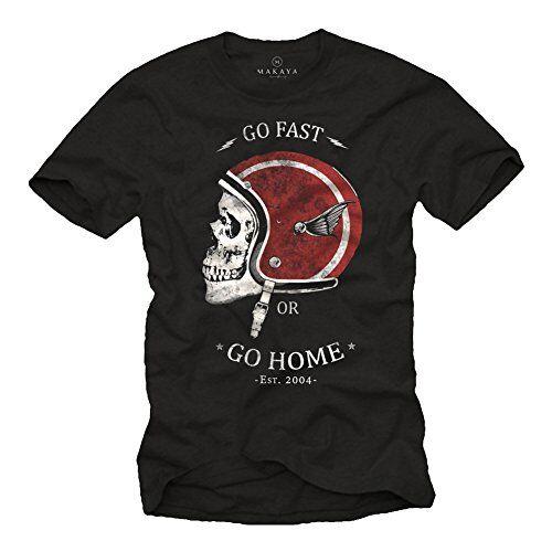 makaya go fast or go home - t-shirt casco moto uomo - maglietta motocross nera xxxl