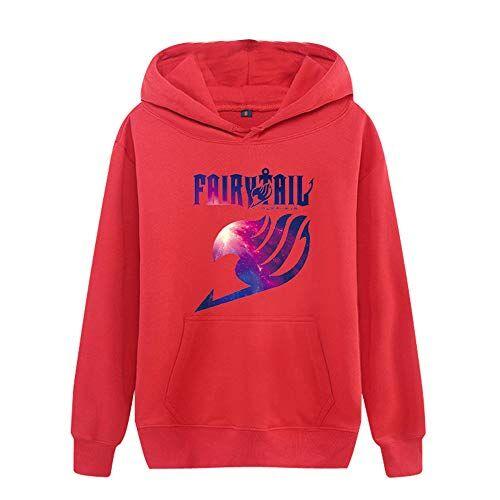 Tayaho Unisex Fairy Tail Moda Stampate Felpe con Cappuccio Popolare Casual Calda Pullover con Cappuccio per Uomo e Donne