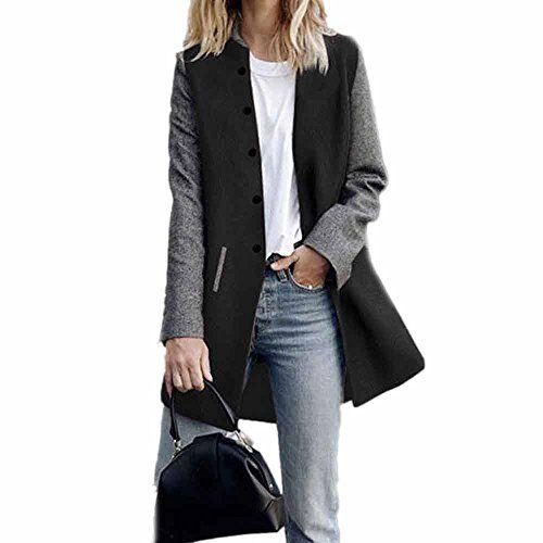 wudube giacca da donna a maniche lunghe con maniche lunghe in jersey e cardigan