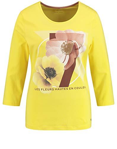 weber gerry weber casual 270082-44004 maglia a maniche lunghe, giallo (citrus 40063), (herstellergre: 44) donna