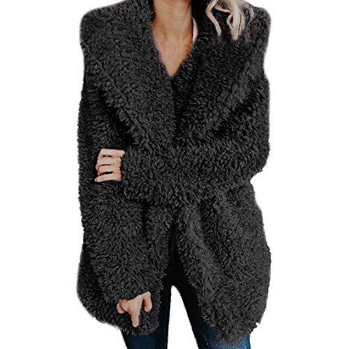 BaZhaHei Giacca Donna,Moda Giacca Lana Artificiale Outerwear,Cappotto Donna Invernale Elegante Tumblr Cappotto Eleganti Parka Giacche Giubbotto Donna Trench Donna Manica Lunga Maglione