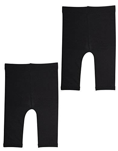 calzitaly pack - 2 paia   leggings corti per neonati primi passi, pantacollant capri babini   12-18 - 24 mesi   nero bianco   calzetteria italiana   (18 mesi, 2 paia - nero)