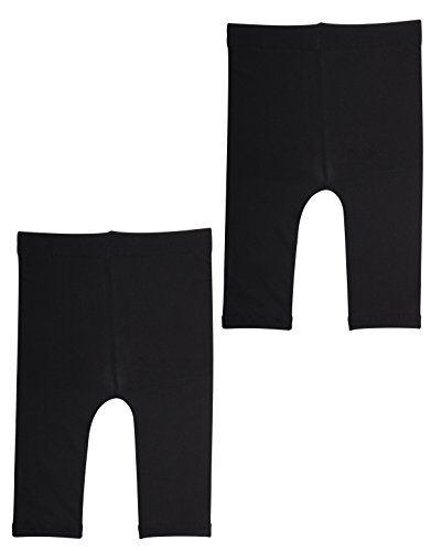 calzitaly pack - 2 paia   leggings corti per neonati primi passi, pantacollant capri babini   12-18 - 24 mesi   nero bianco   calzetteria italiana   (12 mesi, 2 paia - nero)