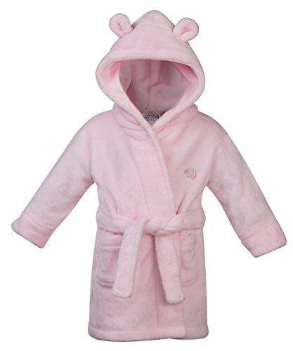 babytown bambini / bimbi ai primi passi in morbido pile vestaglia ~ 6-24 mesi - rosa, 6-12 mesi