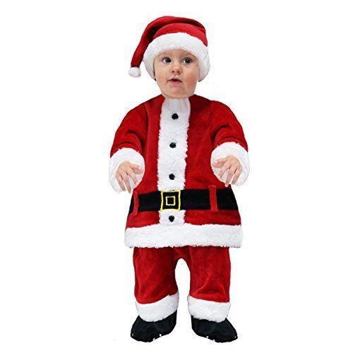 pegasus vestito costume maschera di natale primi passi - babbo natale - taglia 25/36 mesi - 73 cm
