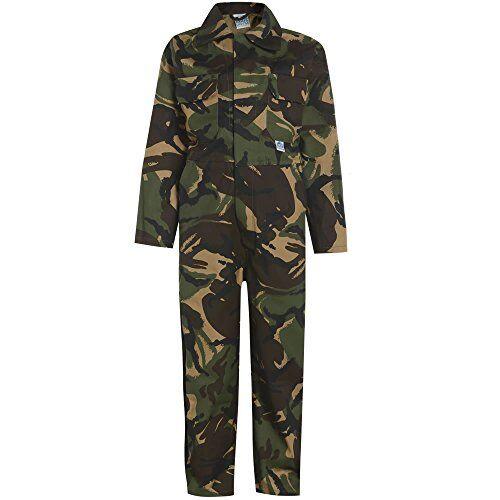 army tuta pesante integrale per bambini woodland green camo camouflage taglia 30 cm-9-10 anni- 76 cm petto
