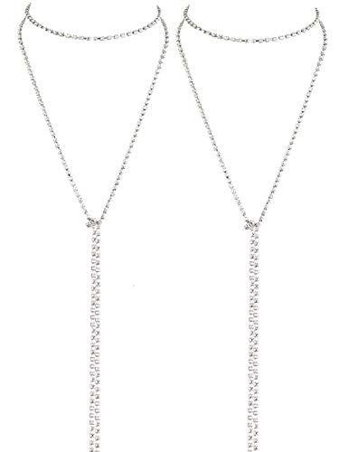 LATH.PIN Collana Girocollo da Donna Moda Accessori di Gioielleri Collana Set Necklace Club Jewelry Regalo per Natale Anniversario (Set 2 A)