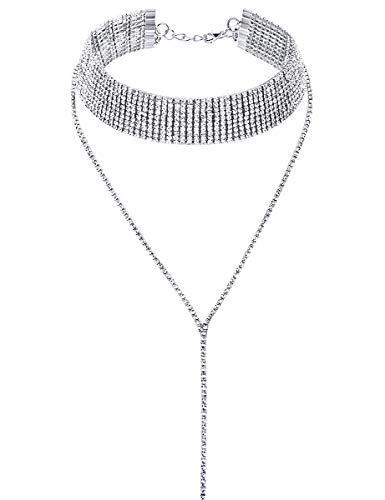 LATH.PIN Collana Girocollo da Donna Moda Accessori di Gioielleri Collana Set Necklace Club Jewelry Regalo per Natale Anniversario (A)