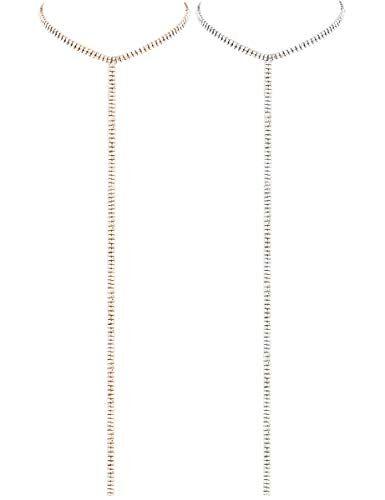 LATH.PIN Collana Girocollo da Donna Moda Accessori di Gioielleri Collana Set Necklace Club Jewelry Regalo per Natale Anniversario (Set 2 F)