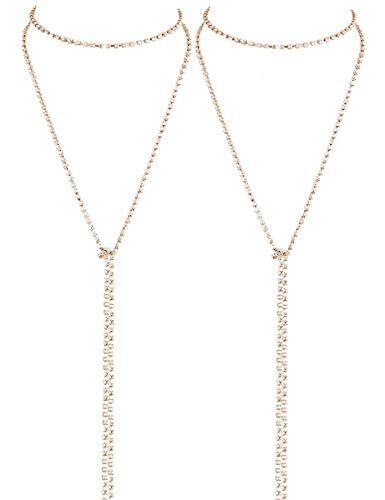 LATH.PIN Collana Girocollo da Donna Moda Accessori di Gioielleri Collana Set Necklace Club Jewelry Regalo per Natale Anniversario (Set 2 B)