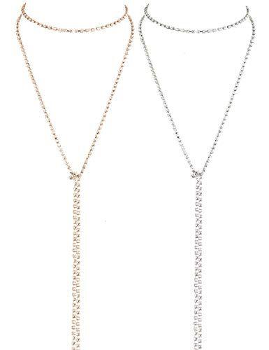 LATH.PIN Collana Girocollo da Donna Moda Accessori di Gioielleri Collana Set Necklace Club Jewelry Regalo per Natale Anniversario (Set 2 C)