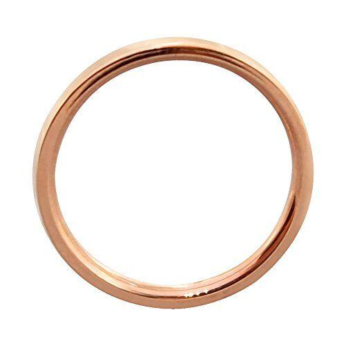 ELBLUVF Acciaio Inossidabile Placcato Oro Rosa Thin Band Anello martellato impilabili Skinny Wire Anello Semplice Le nocche US5
