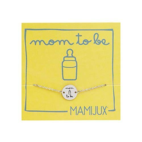 mamijux bracciale mom to be a bottoncino dedicato alle future mamme, in acciaio con biberon inciso
