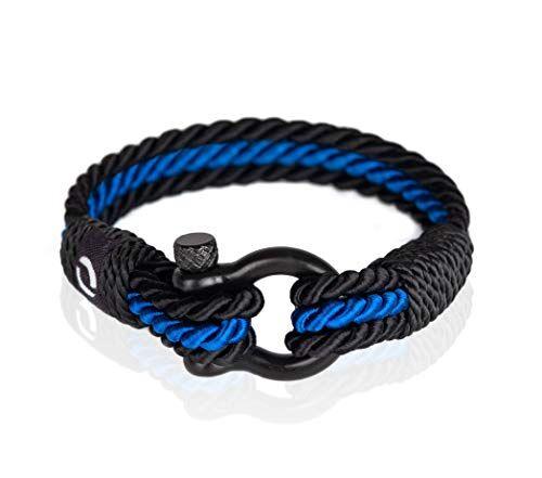 Mover Bracelets Gioielli Uomo alla Moda   Bellissimo Accessorio con Design Intrecciato   Bracciale Blu
